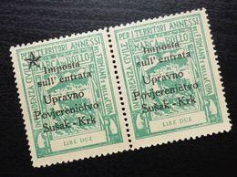 Fiume Croatia Italy Revenue Stamps Lire Due B31 - Occ. Yougoslave: Fiume