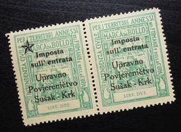 Fiume Croatia Italy Revenue Stamps Lire Due B32 - Occ. Yougoslave: Fiume