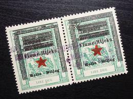 Fiume Croatia Italy Revenue Stamps Lire Due B34 - Occ. Yougoslave: Fiume