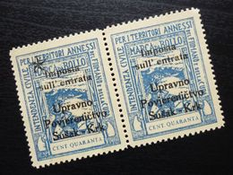 Fiume Croatia Italy Revenue Stamps Cent Quaranta B36 - Occ. Yougoslave: Fiume