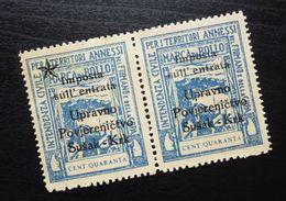 Fiume Croatia Italy Revenue Stamps Cent Quaranta B37 - Occ. Yougoslave: Fiume