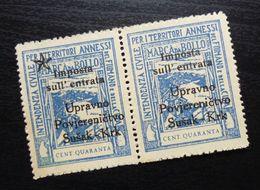 Fiume Croatia Italy Revenue Stamps Cent Quaranta B38 - Occ. Yougoslave: Fiume