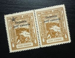 Fiume Croatia Italy Revenue Stamps Cent Cinque B39 - Occ. Yougoslave: Fiume