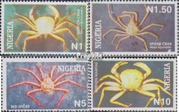 Nigeria 633-636 (kompl.Ausg.) Postfrisch 1994 Krebstiere - Nigeria (1961-...)