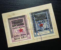 Fiume Croatia Italy Revenue Stamps Lire 10 + Venti B44 - Occ. Yougoslave: Fiume