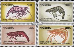 Nigeria 520-523 (kompl.Ausg.) Postfrisch 1988 Garnelen - Nigeria (1961-...)