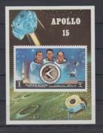 J23. Ajman - MNH - Space - Spaceships - Apollo 15 - Imperf - Raumfahrt