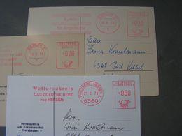 3 Belege Lot Freistempler - Francobolli
