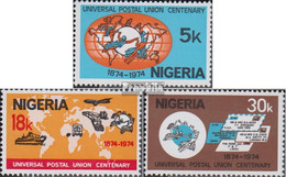 Nigeria 304-306 (kompl.Ausg.) Postfrisch 1974 100 Jahre Weltpostverein - Nigeria (1961-...)
