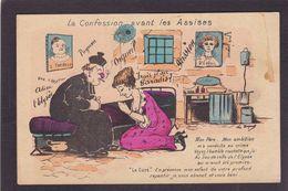 CPA Clystère Satirique Caricature Pot De Chambre Curé Araignée Non Circulé Justice - Satiriques