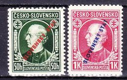 Slovaquie 1939 Mi 24-5A  (Yv 30-1 ), (MNH)** - Slovaquie