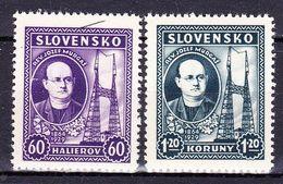 Slovaquie 1939 Mi 46-7  (Yv 36-7 ), (MNH)** - Slovaquie