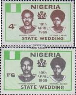 Nigeria 220-221 (kompl.Ausg.) Postfrisch 1969 Hochzeit Des Staatspräsidenten - Nigeria (1961-...)