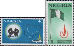 Nigeria 212-213 (kompl.Ausg.) Postfrisch 1968 Jahr Der Menschenrechte - Nigeria (1961-...)