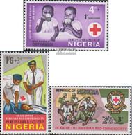 Nigeria 198-200 (kompl.Ausg.) Postfrisch 1966 Rotes Kreuz - Nigeria (1961-...)
