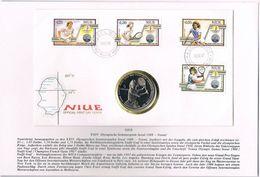 Niue, 1988, FDC Steffie Graf With 5 Dolar Coin - Niue