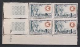 TAAF - 1963 - N°Yv. 21 - Année Du Soleil Calme - Bloc De 4 Coin Daté - Neuf Luxe ** / MNH / Postfrisch - Neufs