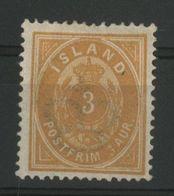 ISLANDE ICELAND COTE 60 € N° 12A Neuf * (MH) Dentelé 14 X 13 1/2. 3a Bistre-jaune - Nuevos