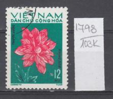103K1798 / 1974 - Michel Nr. 756 Used ( O ) Dahlia Dahlien - Flowers Fleurs Blumen , North Vietnam Viet Nam - Vietnam
