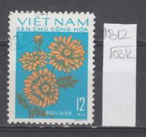 103K1812 / 1974 - Michel Nr. 758 Used ( O ) Chrysanthemum Chrysanthemen - Flowers Fleurs Blumen , North Vietnam Viet Nam - Vietnam