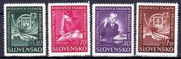 Slovaquie 1942 Mi  98-101  (Yv 70-3 ), (MNH)** - Slovaquie