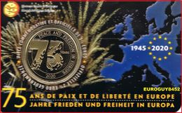 BELGIE - COINCARD 2.50 € 2020 BU - 75 ANS DE PAIX ET DE LIBERTE EN EUROPE - Bélgica