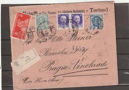 Italy Torino REGISTERED COVER 1930 - Marcofilía