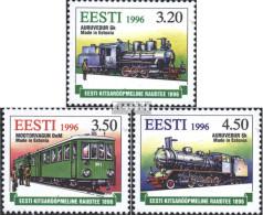 Estland 284-286 (kompl.Ausg.) Postfrisch 1996 Schmalspureisenbahn - Estonie