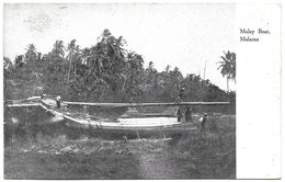 Malaysia (Malacca) – Malay Boat – Year Circa 1921 - Malaysia