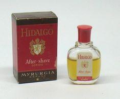 """Miniature De Parfum - MYRURGIA """"Hidalgo"""" After-Shave Lotion 7,5ml - Miniatures Hommes (avec Boite)"""