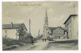 CPA 25 LES ECORCES PLACE DE L'EGLISE - Francia