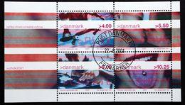 Denmark 2001  MiNr.1281-84  BLOCK 16  ( O )  ( Lot Mappe ) - Danemark