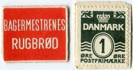 N93-0629 - Timbre-monnaie - Danemark - Bagermestrenes Rugbrød - 1 øre - Kapselgeld - Encased Stamp - Monétaires / De Nécessité