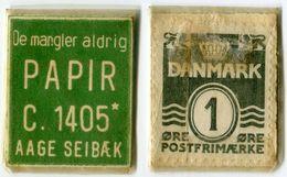N93-0630 - Timbre-monnaie - Danemark - Papir - 1 øre - Kapselgeld - Encased Stamp - Monétaires / De Nécessité