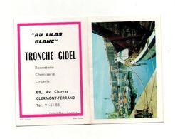 Calendrier 1970 Nouvelle Signalisation Routière,minéralogie - Lescher Chemiserie Lingerie Clermont-Ferrand - Calendriers