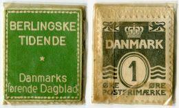 N93-0632 - Timbre-monnaie - Danemark - Berlingske Tidende - 1 øre - Kapselgeld - Encased Stamp - Monétaires / De Nécessité