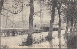 CPA Braine Inondation Débordement Du Ru Colson Sur La Promenade, Circulé 1910 - Autres Communes