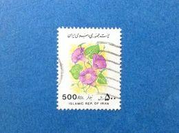 1993 IRAN FRANCOBOLLO USATO STAMP USED FLORA PIANTE FIORI 500 RLS - Irán