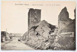 CP 59 BLECOURT CAMBRESIS CAMBRAI - Après La Guerre - La Rue De La Dessous - Edit Lussiez Dumont - France