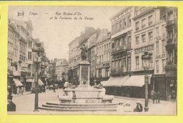 * Liège - Luik (La Wallonie) * (Legia) Rue Vinave D'ile Et La Fontaine De La Vierge, Bijoutier, Café, Patisserie, Old - Liege
