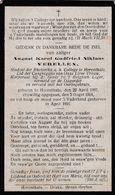 Bidprentje   Oorlogslachtoffer 14  18    Verellen August °- Herentals 22.04.1897 + 05.08.1914 - Voor Vaderland Gestorven - Religion & Esotérisme