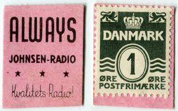 N93-0636 - Timbre-monnaie - Danemark - Always - Johnsen-Radio  - 1 øre - Kapselgeld - Encased Stamp - Monétaires / De Nécessité