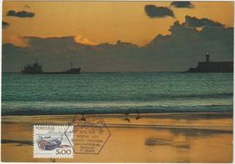 Carte Maximum PORTUGAL N°Yvert 1369 (NAVIRE DE PÊCHE HAUTURIER) Obl Sp Ill 1er Jour - Cartes-maximum (CM)