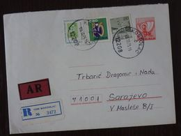 Yugoslavia 1975 Child Children's Week Stamp On Cover From Kostolac Serbia To Sarajevo Bosnia And Herzegovina  C8 - Covers & Documents