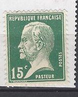 FRANCE 1923 A 1926 TIMBRE 171 TYPE PASTEUR  NEUF SANS CHARNIERE - 1922-26 Pasteur