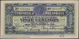 TWN - MOZAMBIQUE R29 - 20 Centavos 25.11.1933 Perforated: PAGO 5.11.1942 AU - Mozambique