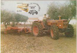 Carte Maximum PORTUGAL N°Yvert 1370 (TRACTEUR) Obl Sp Ill Beja 1982 - Cartes-maximum (CM)