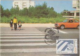 Carte Maximum PORTUGAL N°Yvert 1377 (PASSAGES CLOUTES) Obl Sp Ill 1er Jour 1978 - Cartes-maximum (CM)