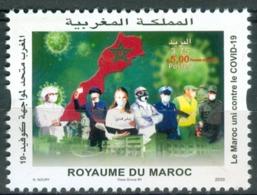 Maroc / Morocco - Timbre 2020 Unis Contre COVID-19 Corna Virus - Neuf** - Maroc (1956-...)