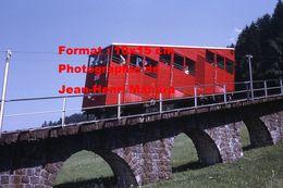 Reproduction D'une Photographie D'une Vue Du Funiculaire à Unterwasser-ltios En Suisse En 1970 - Reproductions